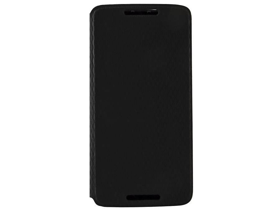 Чехол-книжка Moto X play, поликарбонат / полиуретан, черный (оригинальный)