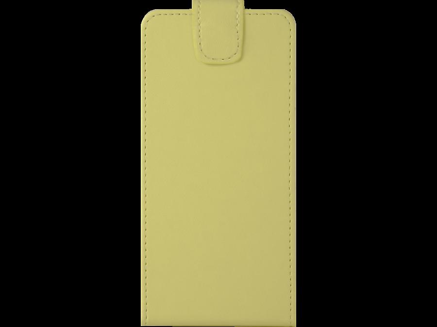 Чехол-книжка FashionTouch универсальный 3.5-4.5'', кожзам, желтый