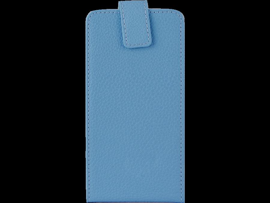 Чехол-книжка FashionTouch универсальный 3.5-4.5'', кожзам, голубой
