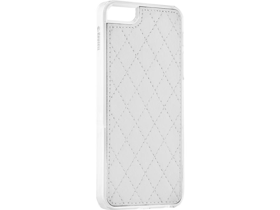 Чехол-крышка Krusell для Apple iPhone 5, 5S, кожзам, белый