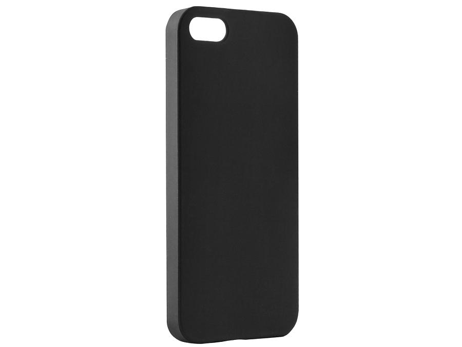 Чехол-крышка BRAUFFEN для iPhone 5/5S, пластик, черный