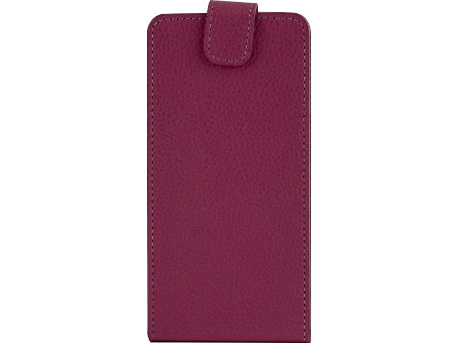 Чехол-книжка FashionTouch универсальный 4.5-5.2'', кожзам, розовый