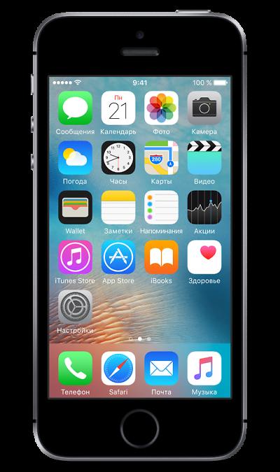 Apple Apple iPhone SE 16Gb Space Gray сотовый телефон apple iphone 5s 16gb space gray ff352ru a восстановленный