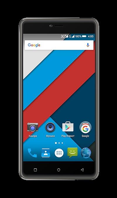 Highscreen Power Rage BlackСмартфоны<br>2G, 3G, Wi-Fi; ОС Android; Дисплей сенсорный емкостный 16,7 млн цв. 5; Камера 8 Mpix, AF; Разъем для карт памяти; MP3, FM,  GPS; Вес 201 г.<br><br>Colour: Черный