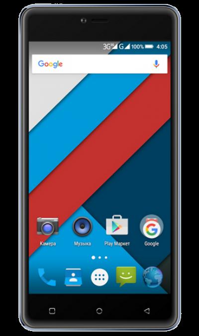 Highscreen Power Rage BlueСмартфоны<br>2G, 3G, Wi-Fi; ОС Android; Дисплей сенсорный емкостный 16,7 млн цв. 5; Камера 8 Mpix, AF; Разъем для карт памяти; MP3, FM,  GPS; Вес 201 г.<br><br>Colour: Черный