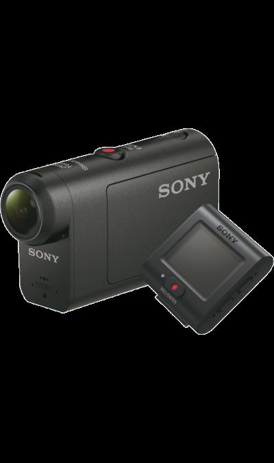 Экшн-камера Sony HDR-AS50R E35 Live-View Remote KITФото и видео<br>Пульт ДУ Live-View для легкого и полноценного управления.<br>Идеальное сочетание для успешной съемки. ПДУ Live-View теперь позволяет полностью управлять камерой Action Cam, в том числе включать и отключать питание. Они даже снабжены одинаковым удобным интерфейсом для комфортной командной работы в действии. Как бы вы ни снимали, куда бы ни отправились, ваша камера и пульт дистанционного управления работают слаженно и готовы к приключениям.<br><br>ПДУ Live-View с универсальным ...<br><br>Colour: Черный
