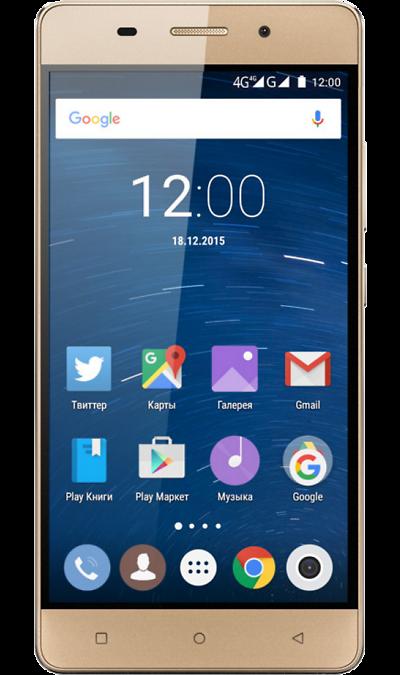 Highscreen Power IceСмартфоны<br>2G, 3G, 4G, Wi-Fi; ОС Android; Дисплей сенсорный емкостный 16,7 млн цв. 5; Камера 8 Mpix, AF; Разъем для карт памяти; MP3, FM,  GPS / ГЛОНАСС; Вес 182 г.<br><br>Colour: Золотистый