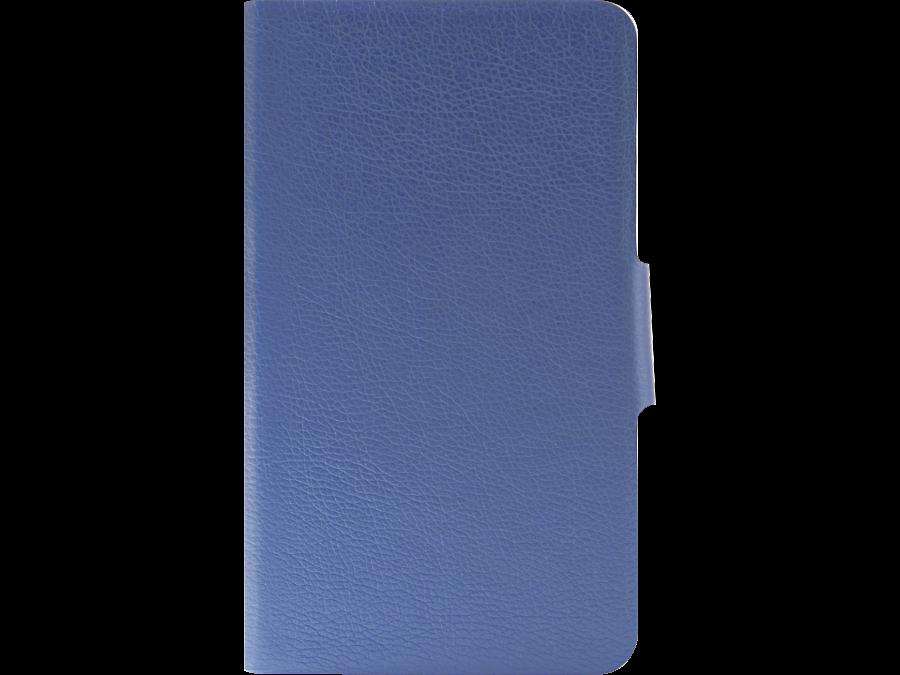 """Чехол-книжка Laura Ponti универсальный 7"""", кожзам, голубой (с уголком под камеру)"""