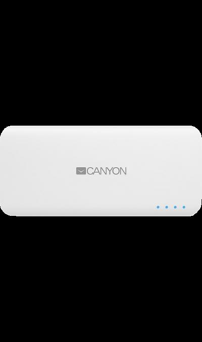 Canyon Аккумулятор Canyon, Li-Ion, 10000 мАч, белый (портативный)
