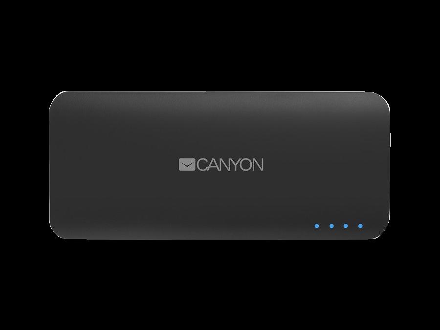 Аккумулятор Canyon, Li-Ion, 10000 мАч, серый (портативный)