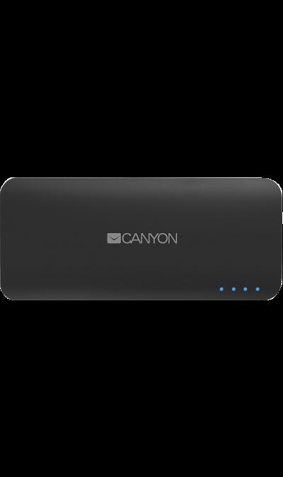Аккумулятор Canyon, Li-Ion, 10000 мАч, серый (портативный)Аккумуляторы внешние<br>Благодаря Canyon вы не останетесь с разряженной батареей на ходу. Портативный аккумулятор мощностью 10000 мАч идеален для полной зарядки смартфона или планшета, когда рядом нет розетки. Мощности устройства достаточно, чтобы полностью зарядить смартфон 3-4 раза или планшет 2 раза. Светодиодные индикаторы позволяют узнать, сколько мощности доступно. С двумя USB-портами аккумулятор может заряжать два устройства одновременно.<br><br>Colour: Серый