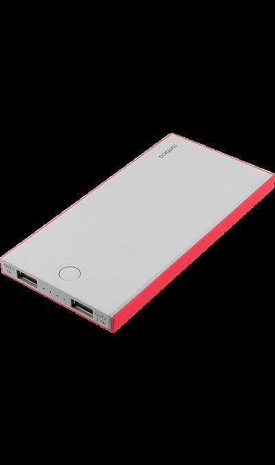 Аккумулятор Rombica NEO NS100R, Li-Pol, 10000 мАч, красный (портативный)Аккумуляторы внешние<br>Резервный аккумулятор Rombica - устройство, предназначенное для зарядки портативных устройств без помощи электрической сети. Особенно актуален для путешественников и туристов в местах, где невозможен или ограничен доступ к электроэнергии. Резервный аккумулятор подходит для портативных устройств, таких как смартфоны, планшеты, мобильные телефоны и МР3-плееры.<br><br>LED индикатор оставшегося заряда;<br>Множественная система защиты для безопасной зарядки устройств;<br>Ультратонкий и легкий ...<br><br>Colour: Серый