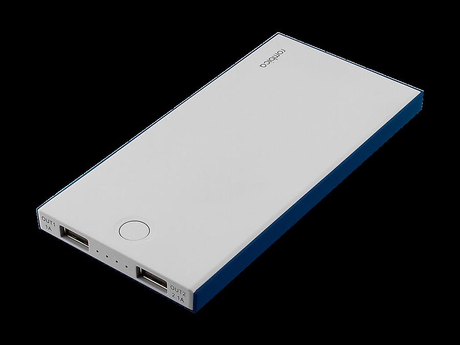 Аккумулятор Rombica NEO NS100B, Li-Pol, 10000 мАч, синий (портативный)