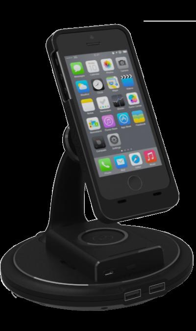 Док-станция Revocharge с адаптером 12VДок-станции и клавиатуры<br>Универсальная док-станция для зарядки смартфонов без использования кабелей. Предусмотрены 2 USB-разъема. Для зарядки смартфона необходим чехол Revocharge с магнитным креплением.<br><br>Colour: Черный
