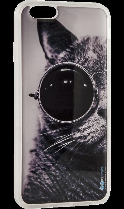 Ice Twice Чехол-крышка Ice Twice Кот для Apple iPhone 6/6S, силикон twice
