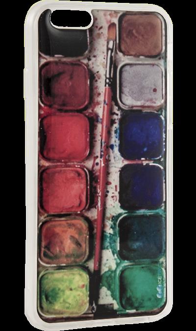 Чехол-крышка Ice Twice Краски для Apple iPhone 6/6S, силиконЧехлы и сумочки<br>Чехол поможет не только защитить ваш iPhone 6/6S от повреждений, но и сделает обращение с ним более удобным, а сам аппарат будет выглядеть еще более оригинальным.<br><br>Colour: Разноцветный