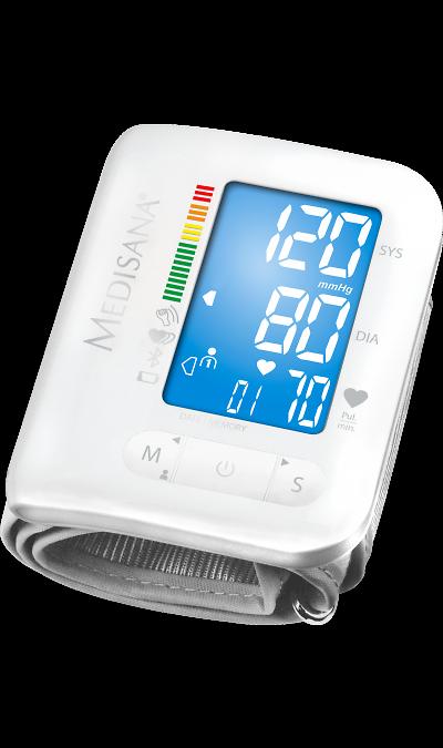 Тонометр запястный Medisana BW300 ConnectУстройства для здоровья<br>Удобный и компактный аппарат для измерения давления Medisana BW 300 Connect позволяет легко получить данные о состоянии сердечно-сосудистой системы. Показатели отображаются в цифровом формате на жидкокристаллическом дисплее. Тонометр располагают на области запястья, что делает его применение легким и возможным практически в любой ситуации.<br><br>Прибор рассчитан на регулярное применение двумя пользователями. Память включает в себя 2 блока по 180 ячеек, которые заполняются автоматически показателями ...<br><br>Colour: Серый