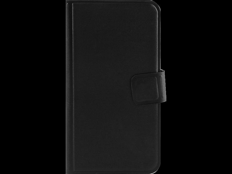 Чехол-книжка MegaCase для Micromax Q415  горизонтальный, полиуретан, черный (с отделением для кредитных карт)