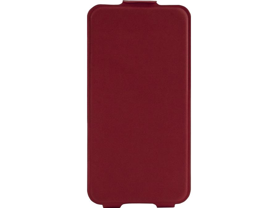 Чехол-книжка MegaCase для Micromax Q415  вертикальный, полиуретан, красный (с отделением для кредитных карт)