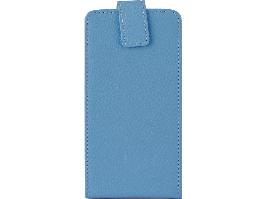 Чехол-книжка FashionTouch универсальный 4.5-5.2'', кожзам, голубой