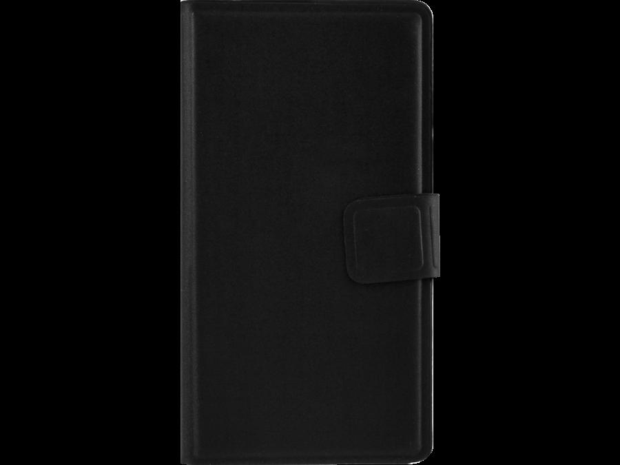 Чехол-книжка MegaCase для Micromax  BOLT D303, полиуретан, черный (с отделением для кредитных карт)