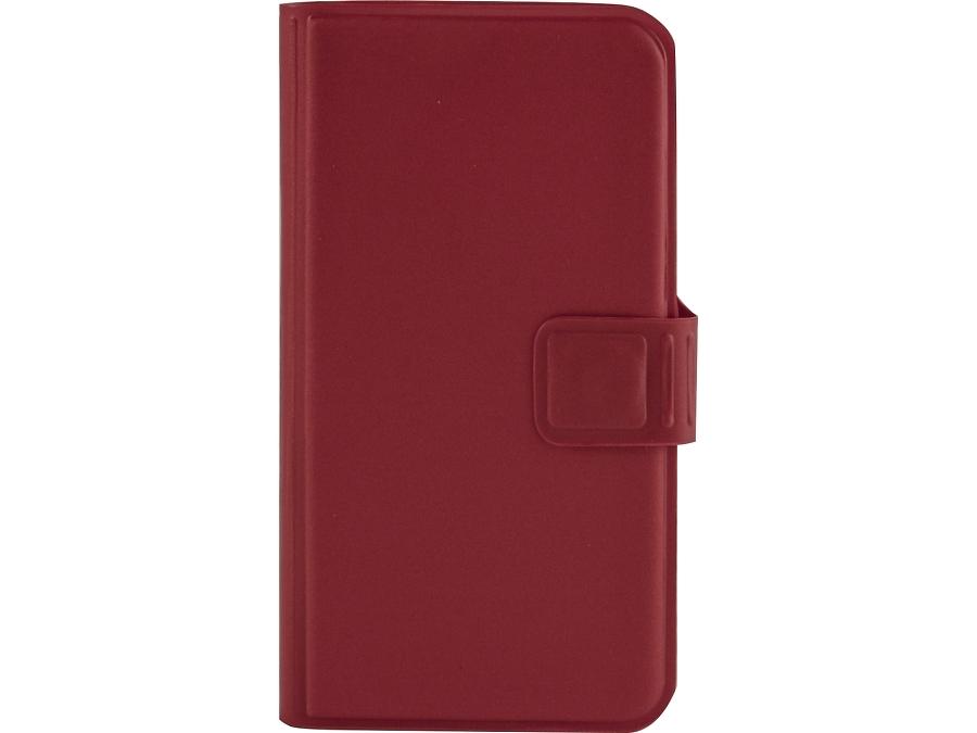 Чехол-книжка MegaCase для Micromax Canvas Pace Q415, полиуретан, красный (с отделением для кредитных карт)