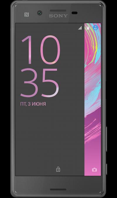 Sony Xperia XСмартфоны<br>2G, 3G, 4G, Wi-Fi; ОС Android; Дисплей сенсорный емкостный 16,7 млн цв. 5; Камера 23 Mpix, AF; Разъем для карт памяти; MP3, FM,  GPS / ГЛОНАСС; Вес 153 г.<br><br>Colour: Черный
