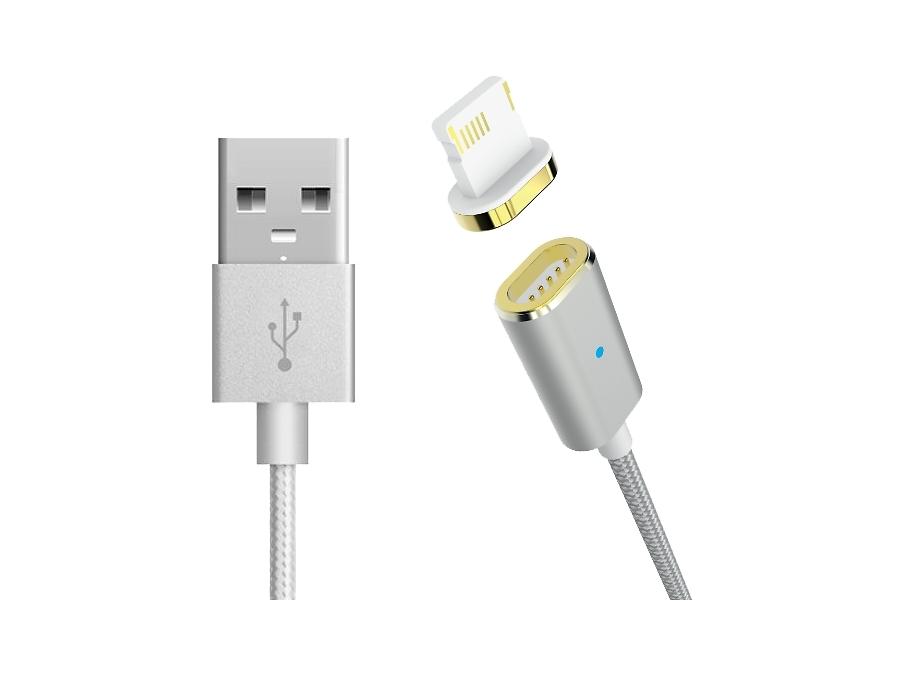 Магнитный кабель Partner Lightning (серебристый)
