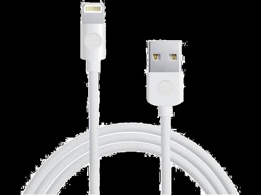 Кабель Dataline USB - Lightning (белый)