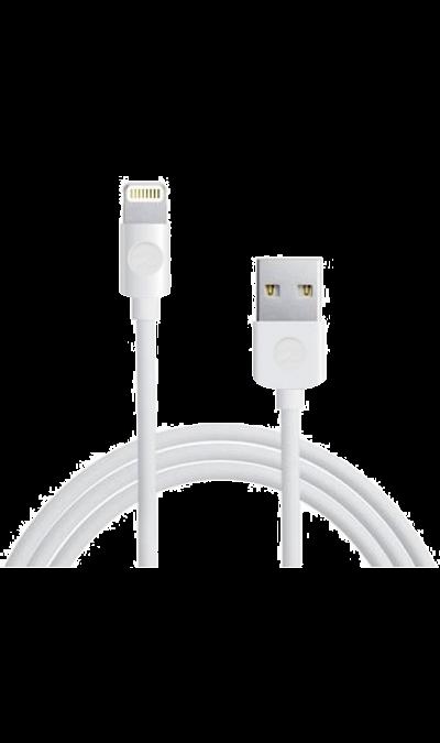 Кабель Dataline USB - Lightning (белый)Кабели и адаптеры<br>Кабель для соединения через USB-порт ноутбука или компьютера с телефоном iPhone, плеерами или другими устройствами имеющими разъем Lightning 5 pin.<br><br>Colour: Белый