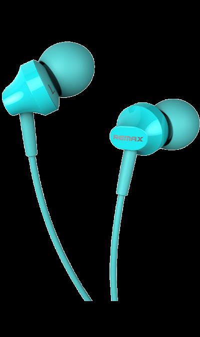 Проводная гарнитура Remax RM-501, стерео (голубая)