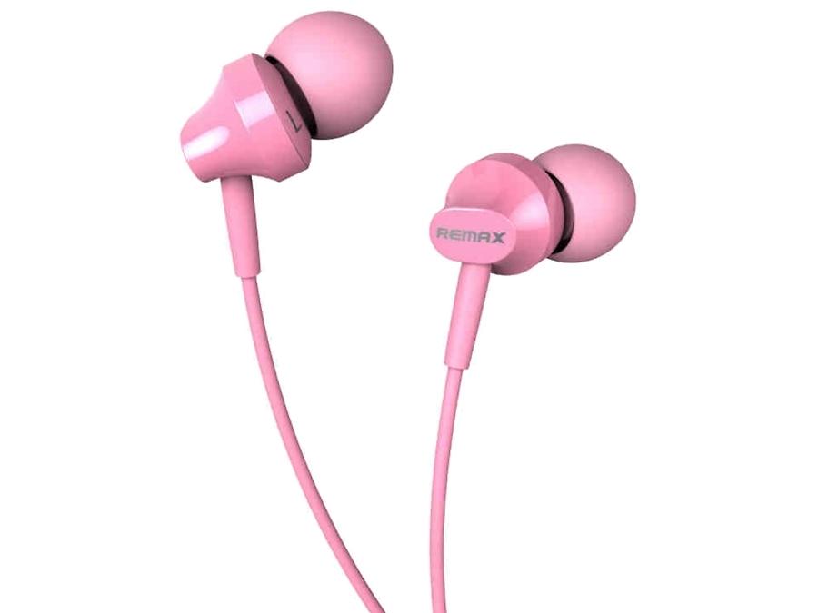 Проводная гарнитура Remax RM-501, стерео (розовая)