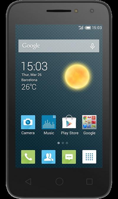 Alcatel PIXI 4 4034DСмартфоны<br>2G, 3G, Wi-Fi; ОС Android; Дисплей сенсорный емкостный 16,7 млн цв. 4; Камера 3 Mpix; Разъем для карт памяти; MP3, FM,  GPS; Время работы 300 ч. / 7.0 ч.; Вес 105 г.<br><br>Colour: Черный