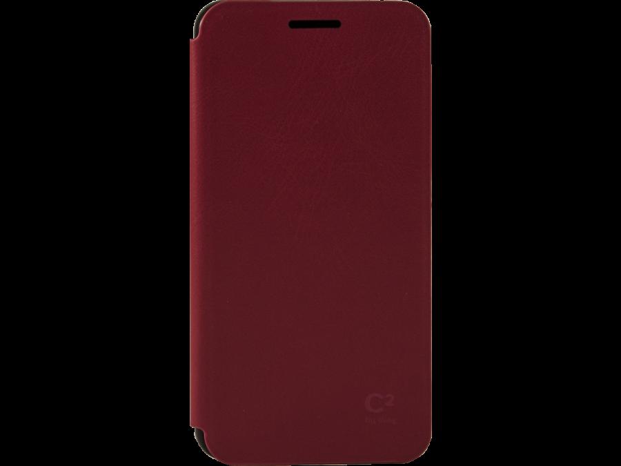 Чехол-книжка Uniq C2 для Samsung Galaxy A3, кожзам / пластик, красный