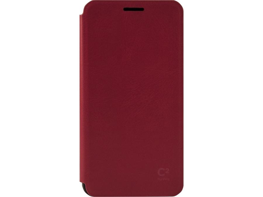 Чехол-книжка Uniq C2 для Samsung Galaxy A5, кожзам / пластик, красный