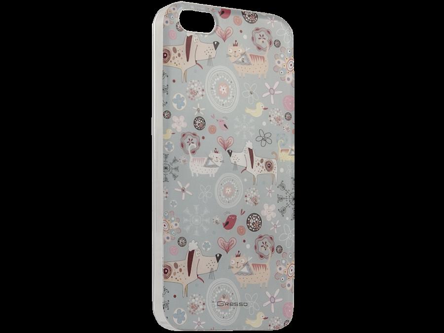 Чехол-крышка Gresso Животные для Apple iPhone 5/5S, пластик, голубой
