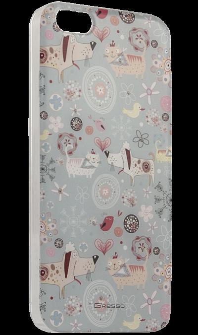 Gresso Чехол-крышка Gresso Животные для Apple iPhone 5/5S, пластик, голубой майка борцовка print bar узор богов