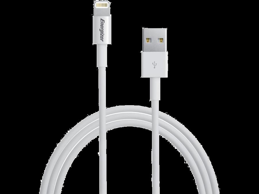 Кабель Energizer Lightning MFI (белый)