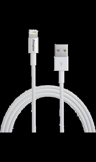 Кабель Energizer Lightning MFI (белый)Кабели и адаптеры<br>Кабель зарядки и передачи данных для мобильных устройств.<br><br>Colour: Белый