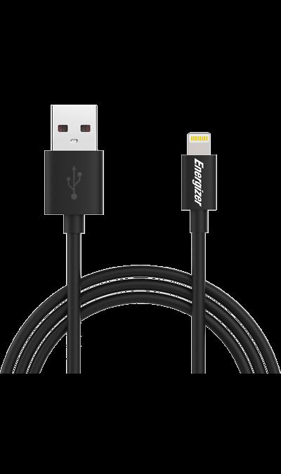 Energizer Кабель Energizer Lightning MFI (черный) кабель remax western lightning lightning 0 30 м оплетка из натуральной кожи брелок черный