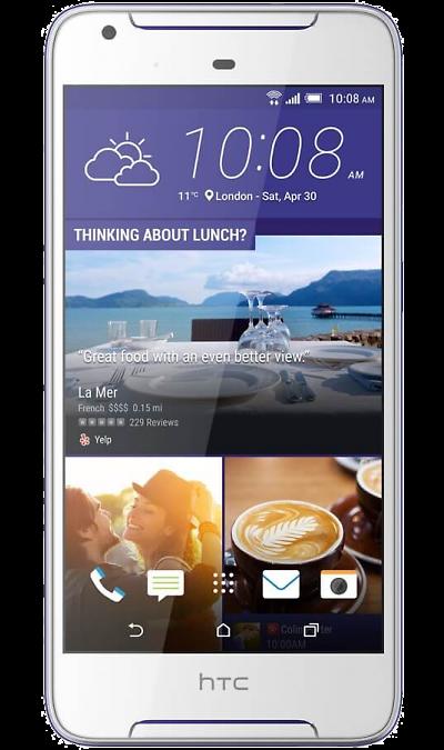 HTC HTC Desire 628 Dual Sim LTE 32Gb Cobalt White мобильный телефон htc desire 516 htc 516 core 5 0 1 4 5mp gps wifi