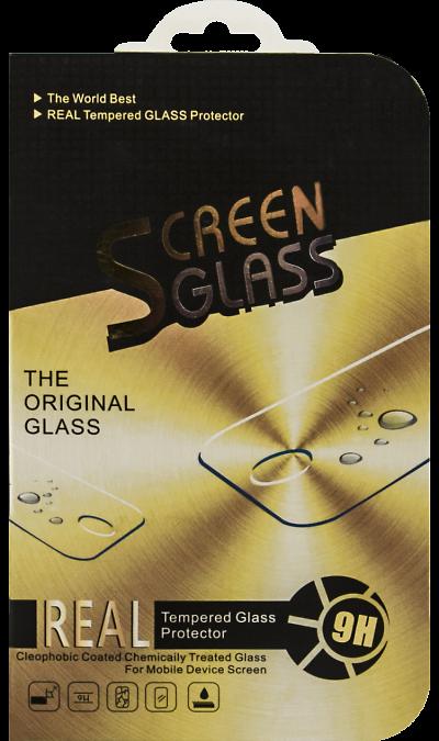 Защитное стекло Screen Glass для Apple iPhone 6 Plus с черной рамкойЗащитные стекла и пленки<br>Качественное защитное стекло прекрасно защищает дисплей от царапин и других следов механического воздействия. Оно не содержит клеевого слоя и крепится на дисплей благодаря эффекту электростатического притяжения. Стекло имеет по краям черные рамки.<br>