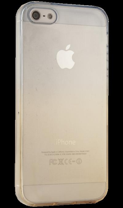 Liberty Project Чехол-крышка Liberty Project для Apple iPhone 5/5S жёлто-синий, силикон, прозрачный чехол liberty project для apple iphone 6 6s transperent black
