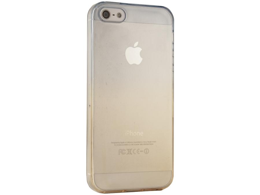 Чехол-крышка Liberty Project для iPhone 5/5S жёлто-синий, силикон, прозрачный