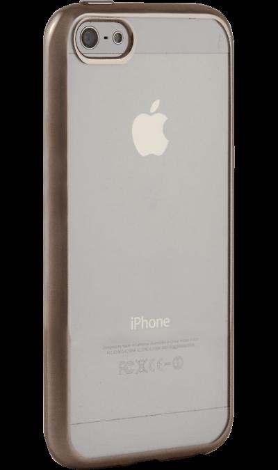 Чехол-крышка Gresso для Apple iPhone 5/5S, силикон, золотистый (с рамкой)Чехлы и сумочки<br>Чехол поможет не только защитить ваш iPhone 5/5S от повреждений, но и сделает обращение с ним более удобным, а сам аппарат будет выглядеть еще более оригинальным.<br><br>Colour: Золотистый