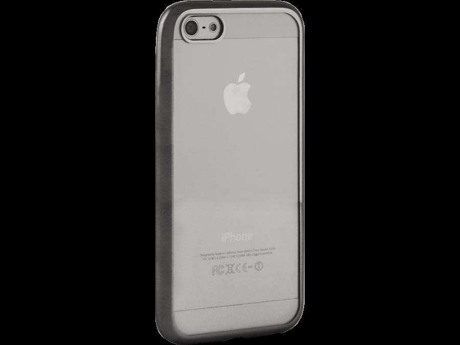 Чехол-крышка Gresso для Apple iPhone 5/5S, силикон, серый (с рамкой)