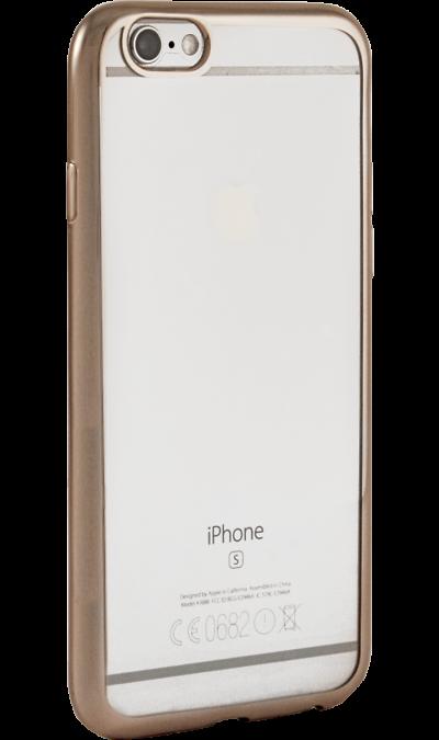 где купить Gresso Чехол-крышка Gresso для Apple iPhone 6/6S, силикон, золотистый (с рамкой) по лучшей цене