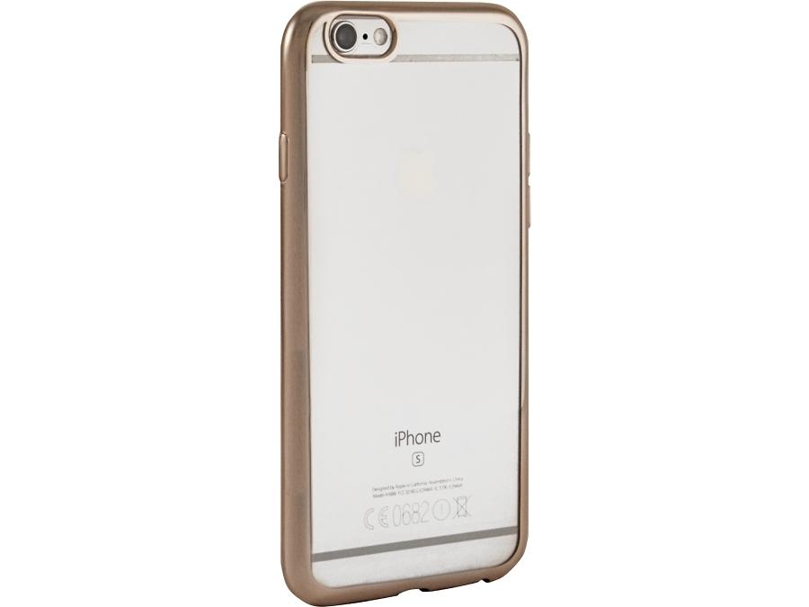 Чехол-крышка Gresso для iPhone 6/6S, силикон, золотистый (с рамкой)