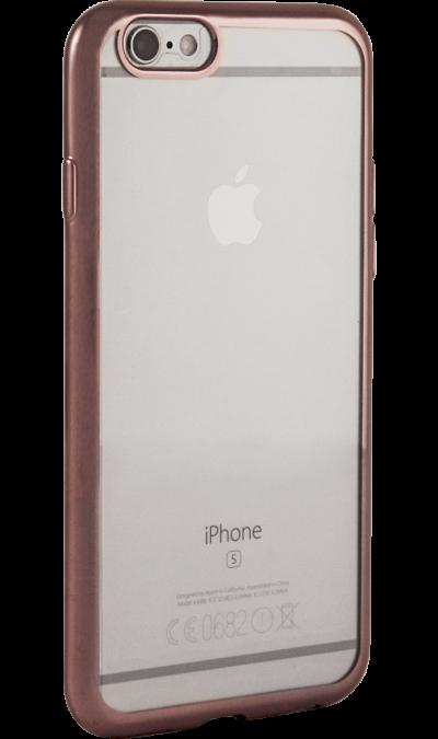где купить Gresso Чехол-крышка Gresso для Apple iPhone 6/6S, силикон, розовый (с рамкой) по лучшей цене