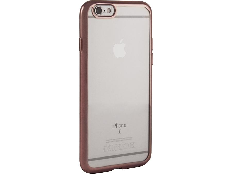 Чехол-крышка Gresso для iPhone 6/6S, силикон, розовый (с рамкой)